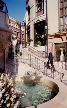 """Rodeo Drive, Beverly Hills, LA - Over the top for 'regular' people. This is a contemporary structure made to look old and European that we've nicknamed """"Rue Faux."""""""