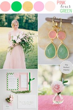 Green and blush