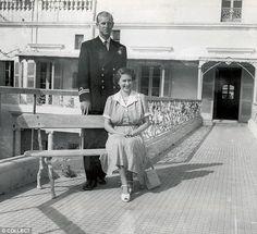 The Queen was given a framed watercolour of Villa Guardamangia - her much-loved former home in Malta (pictured with Prince Philip there in 1950)