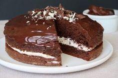 gâteau moelleux au chocolat et à la crème de lait