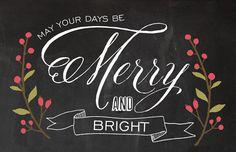 chalkboard holiday card
