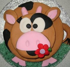 cow cake . I have got to make this in black & white for my birthday next year!! Adorable