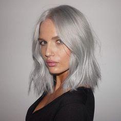 Silver @rachel_mortenson COLOR BY @lhonette #IGKHAIR #silver #hair