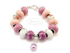 Modular bracelet with ceramic beads Ceramic Beads, Pandora Charms, Handmade Jewelry, Pendants, Ceramics, Bracelets, Earrings, Ceramica, Ear Rings