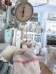 Vintage hanging white  farm scale prairie by Vintagewhitecottage, $63.00