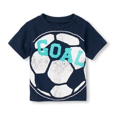 s Toddler Boys Short Sleeve Sports Graphic Tee - Blue T-Shirt - The Children's Place