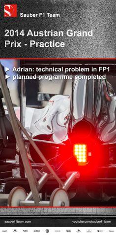 Sauber F1 Team, Austrian Grand Prix, practice ► Adrian: technical problem in FP1 ► planned programme completed ► more on www.sauberf1team.com #F1 #SauberF1Team #AustrianGP #FormulaOne #Formula1 #motorsport