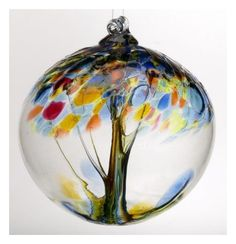 Old English Blown Glass Witch Ball