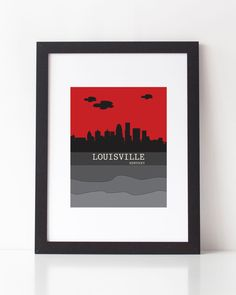 Louisville Kentucky Skyline Printable PDF 8x10 Print, Instant Download by StarbriteStudio on Etsy https://www.etsy.com/listing/253964897/louisville-kentucky-skyline-printable