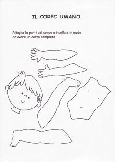 schede didattiche corpo umano scuola infanzia - Cerca con Google Body Parts Preschool Activities, Preschool Body Theme, Toddler Activities, Activities For Kids, Crafts For Kids, Montessori, Teaching English, Kindergarten, Classroom