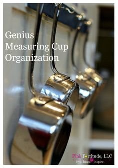 "Finding the right measuring cups and spoons in ""the drawer"" has become the bane… Home Organization Hacks, Organizing Your Home, Kitchen Organization, Organization Station, Organizing Ideas, Coconut Head, Green Cleaning, Pink Love, Measuring Cups"