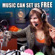 All of the music in RADIO REBEL rocks! #radiorebel #debbyryan #disney #disneychannel