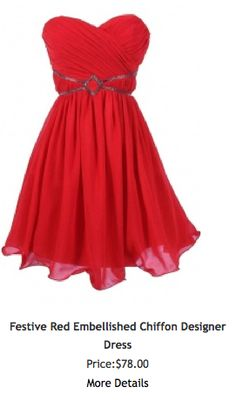 Simple and sweet, this bright red dress will get you some holiday attention!