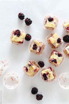 Ooey gooey blackberry butter bars.