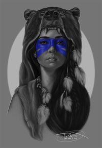 wolf headdress tattoo - Google Search