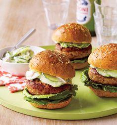 Spicy Chicken Burgers: Recipes: Self.com