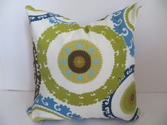 Outdoor Pillow 18x18 Pillow   Brown Suzani Pillow by ClavelFashion, $22.00