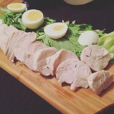 WEBSTA @ evasaki - 先日の夜ごはん。#鳥ハム#ヘルシー思考#肉は食べていい#マイルール#炭水化物食べたい#ごはん大好き#ケツがでかくなった
