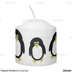 Penguin Friends Votive Candle