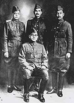 The 'Indian National Army' or 'Azad Hind Fauj' formed under the brilliant vision of the great Indian hero 'Netaji' Subhash Chandra Bose is. History Of India, Asian History, History Photos, History Facts, Strange History, British History, Rare Historical Photos, Rare Photos, Rare Pictures