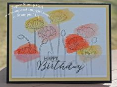 Pleasant poppies ; For all things ; Birthday