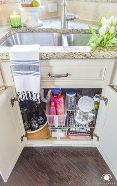 Organization for Under the Kitchen Sink - Kelley Nan