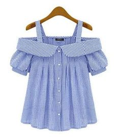 Blusas camisas · ropa linda · blouse off shoulder women plus size 2017 new fashion plaid pattern ladies sexy off the shoulder Kids Outfits, Casual Outfits, Cute Outfits, Fashion Outfits, Baby Girl Dresses, Baby Dress, Diy Clothes, Clothes For Women, Trendy Dresses