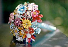 Fantasy Floral Brooch Bouquet