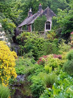 Finlaystone House gardens ~ Scotland I want to live there! Garden Cottage, Cozy Cottage, Cottage Style, Home And Garden, Landscape Design, Garden Design, Cabins And Cottages, Plantation, Dream Garden