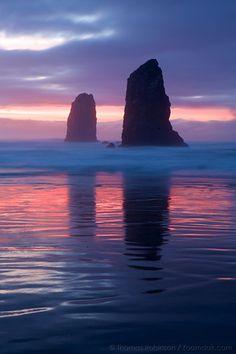 Pink and Blues - Oregon Coast Sunset