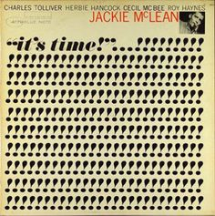 An awesome typographic cover for Jackie McLean via Lined & Unlined