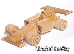 Dřevěné hračky, zavodní auto, formule F1 pro děti
