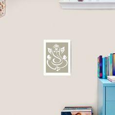"""GANESHA - HINDU GOD GANESH "" Art Print by Trisha2k   Redbubble Indian Gods, Canvas Prints, Art Prints, Ganesha, Religion, Photo Canvas Prints, Religious Education, Ganesh, Faith"