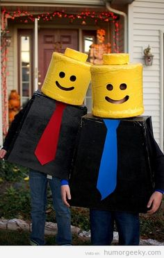Need a costume idea, why not go as a Minifigure!