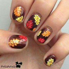 60 fall nail art trends to start wearing now thanksgiving check autumn fall inspired nail art designs trends ideas for girls 2013 2014 6 autumn prinsesfo Images