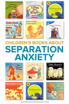Separation anxiety in kids can be challenging. Read the 11 children's books about separation anxiety that will help your child cope. Separation Anxiety Baby, Seperation Anxiety, Best Children Books, Toddler Books, Childrens Books, Young Children, The Kissing Hand, Fear Of The Dark, Preschool Books