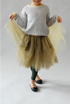 Even older kids can get away with tutu skirts if you style it right. Cute look.