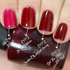 OPI In A Holidaze Comparison | Holiday 2014 Gwen Stefani Collection Comparisons | Peachy Polish #red