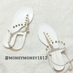 LIKE NEW Rampage Studded Jelly Sandal Only worn once inside the house. Almost like new condition. Perfect for spring / summer with maxi dresses, skirts etc NO TRADE Rampage Shoes Sandals