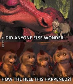 New memes shrek donkeys Ideas Donkey And Dragon, Shrek Dragon, Really Funny, Funny Cute, Hilarious, Shrek Quotes, Shrek Donkey, Movie Memes, Movie Quotes