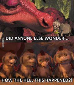 New memes shrek donkeys Ideas Donkey And Dragon, Shrek Dragon, Shrek Quotes, Stupid Funny Memes, Hilarious, Funny Stuff, Fiona Shrek, Shrek Donkey, Movie Memes