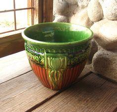 Brush McCoy Pottery Jardiniere, $69. Available at RiverHouseArtPottery.etsy.com.