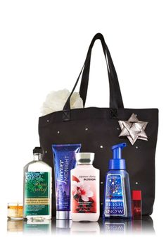 Bath & Body Works Holiday 2013 VIP Tote Bag $104 Forever Red/Midnight & More NWT