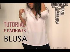 DIY Tutorial: Blusa básica con cuello de pico (patrones gratis) | Manualidades