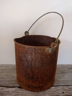 "Rusty pails and buckets for rent @ ""R""rustic things! See our page on Facebook @ kellie schmidt for ""R""rustic things!"