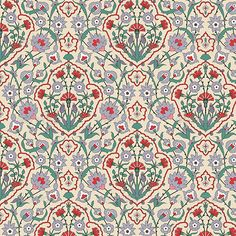 Arabesque Seamless Pattern with Carnations — Vector EPS #decorative #colorful • Available here → https://graphicriver.net/item/arabesque-seamless-pattern-with-carnations/4441292?ref=pxcr