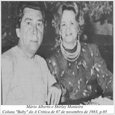 "Mário Alberto e Shirley Monteiro. Coluna ""Baby"" do A Crítica de 07 de novembro de 1983."