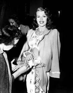 "pineyewoman: "" Rita Hayworth on the set of Gilda (1946) """