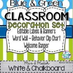 This Classroom Set comes to you with a complete set with either White Center or Chalkboard Center so that you can mix and match while having a cohesive classroom theme. The Editable Labels come in a variety of sizes!