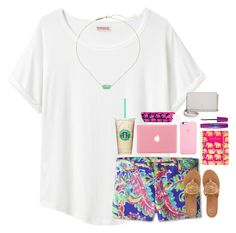 """Please comment set inspiration. I need ideas."" by pandapeeper ❤ liked on Polyvore featuring Organic by John Patrick, Lilly Pulitzer, Maybelline, Kate Spade, Kendra Scott and Jack Rogers"